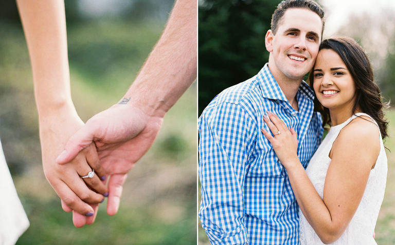 Relaxed and romantic engagement photos at Seattle's Discovery Park