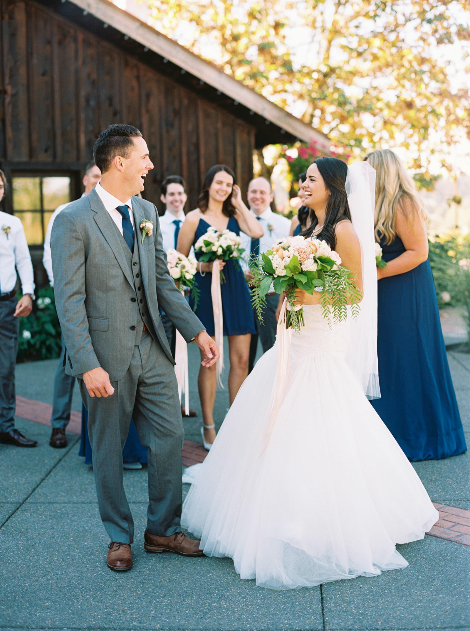 Elegant Bridal Party at Kelley Farms Wedding | Seattle Wedding Photographer Anna Peters