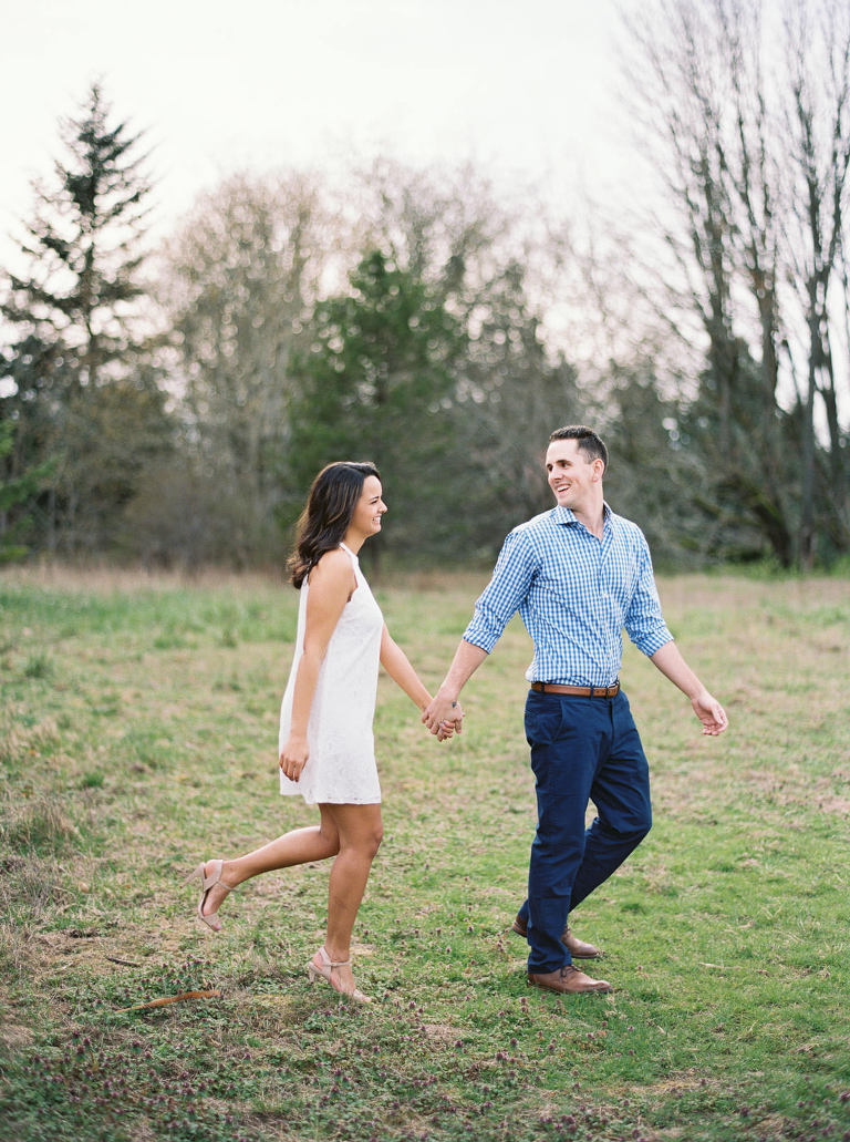 Candid Discovery Park Engagement photos by Seattle Wedding Photographer Anna Peters