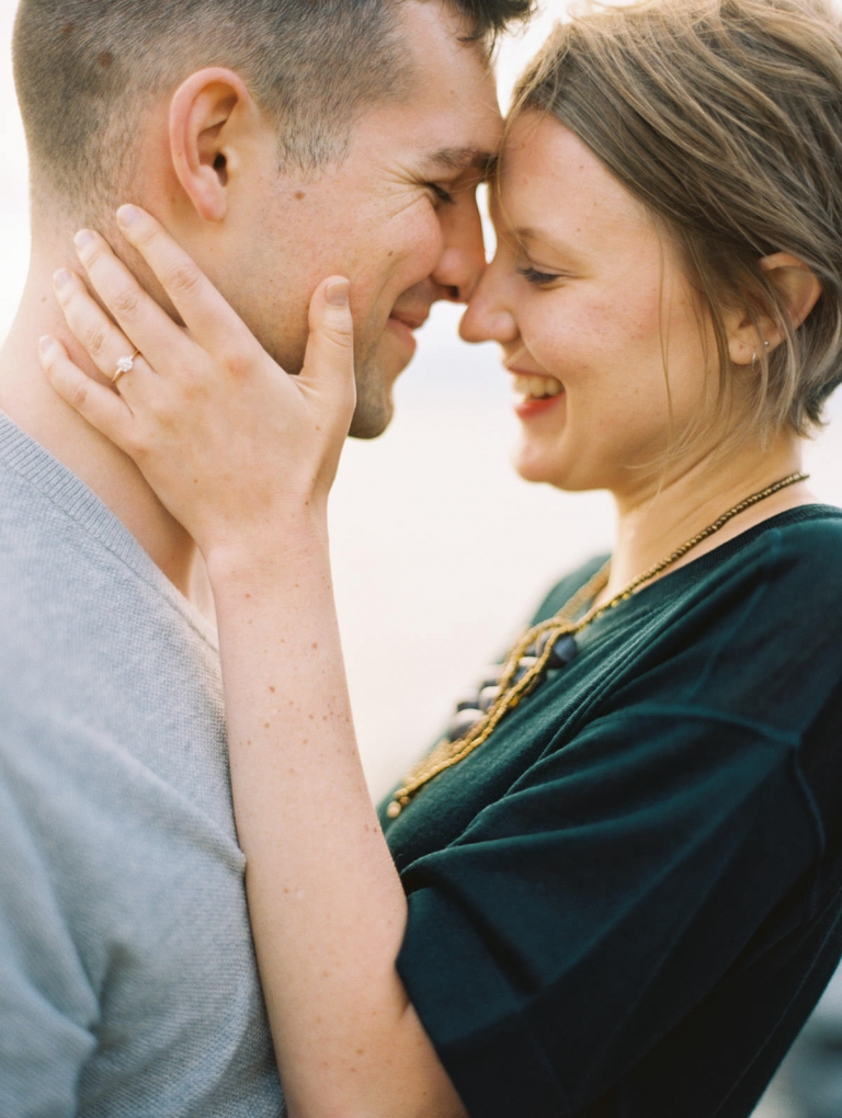 Intimate and joyful engagement photos in Seattle by Anna Peters