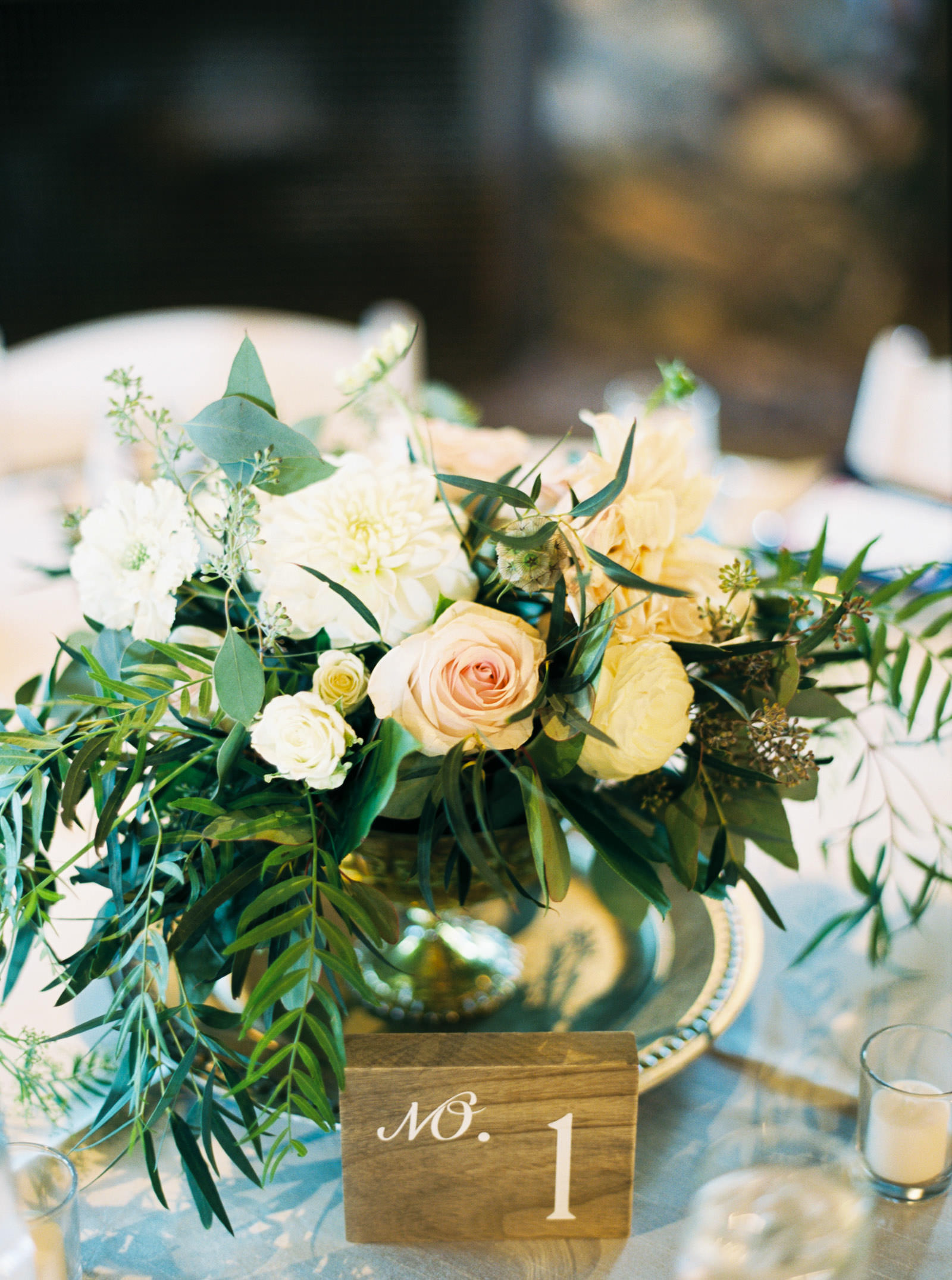 Reception details at a fall Kelley Farms Wedding captured by Film Photographer Anna Peters