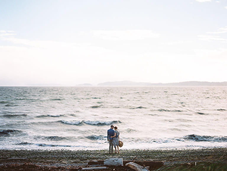 Discovery Park Beach Engagement Photo Location Ideas by Seattle Wedding Photographer Anna Peters