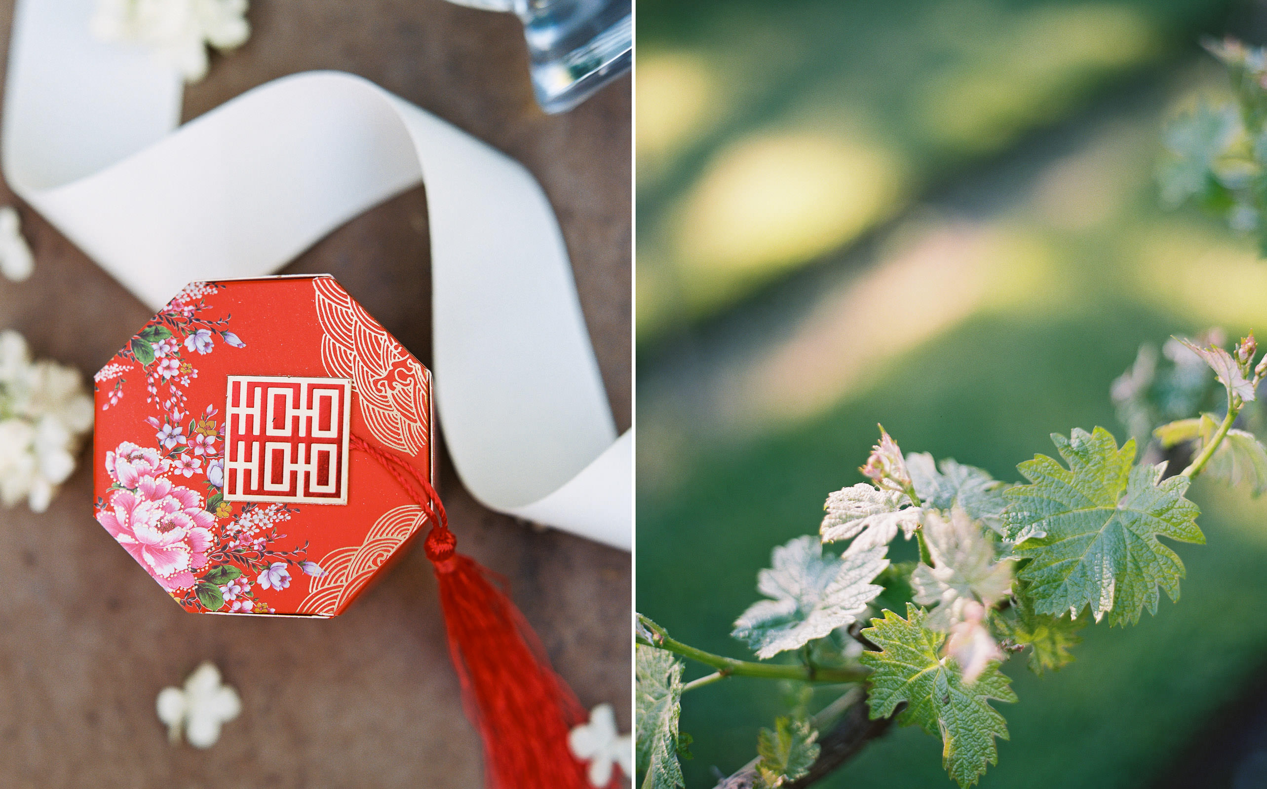 Vibrant Wedding details at a spring DeLille Cellars Wedding by seattle wedding photographer Anna Peters