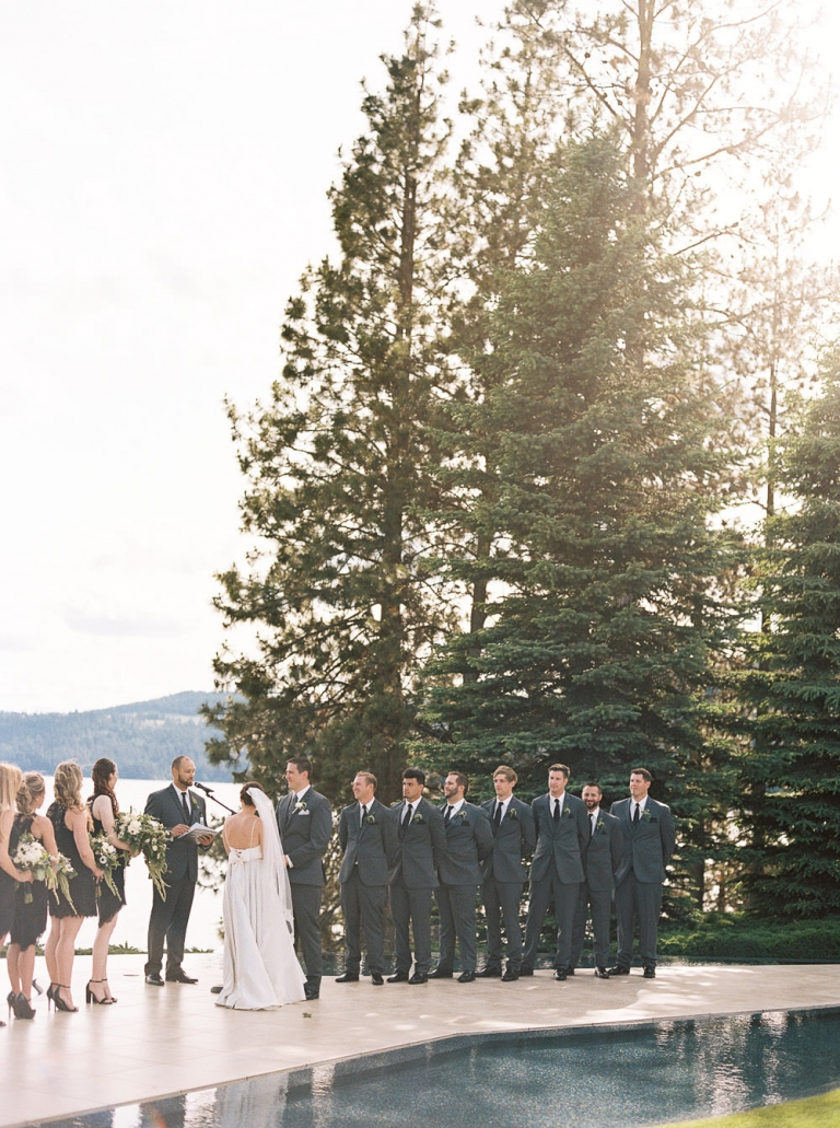 Elegant Summer Wedding at Coeur D'Alene Resort's Hagadone Event Center