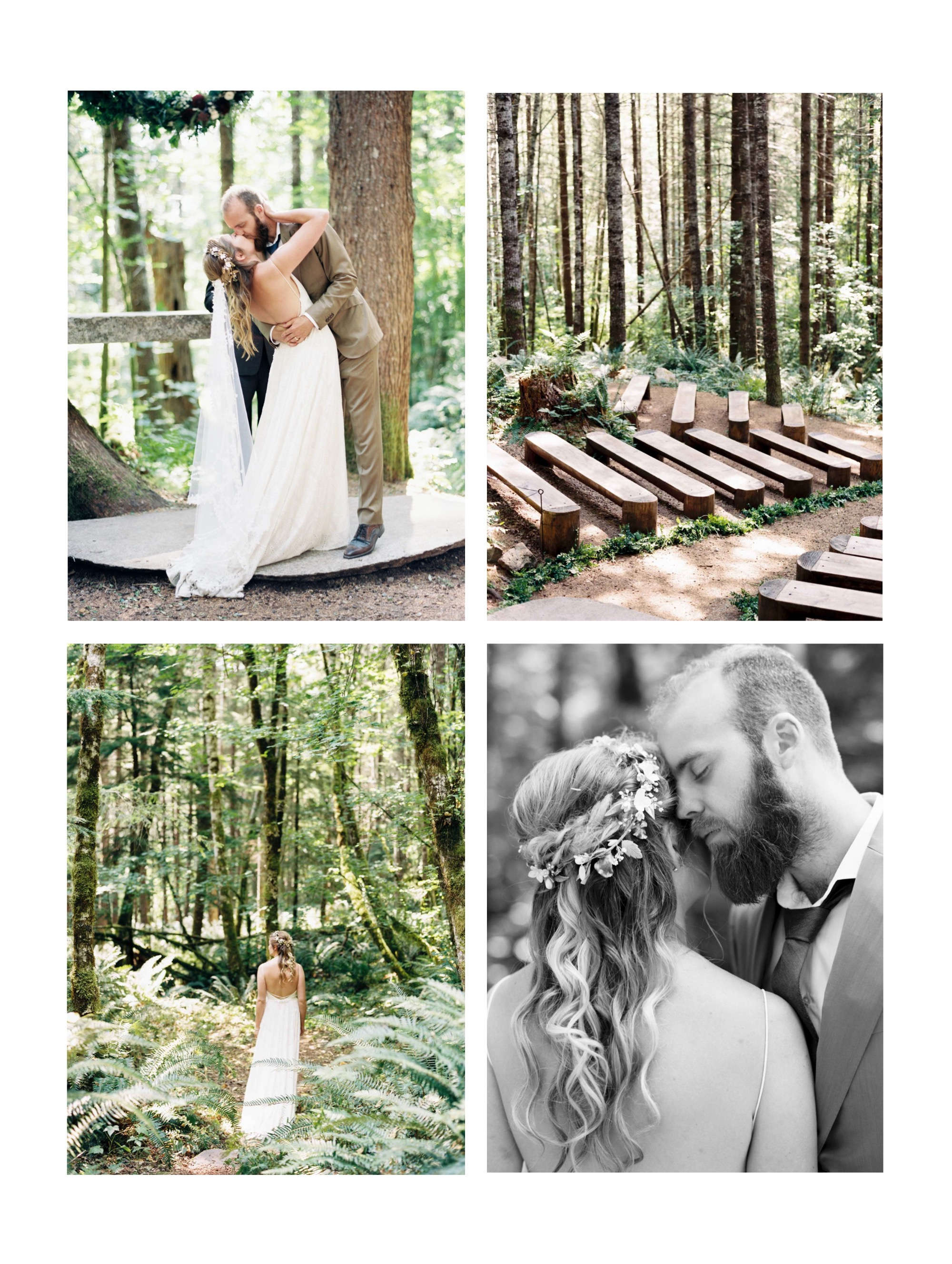 Ten Exceptionally Beautiful Forest Wedding Venues in Washington | Seattle + Destination Wedding Photographer Anna Peters