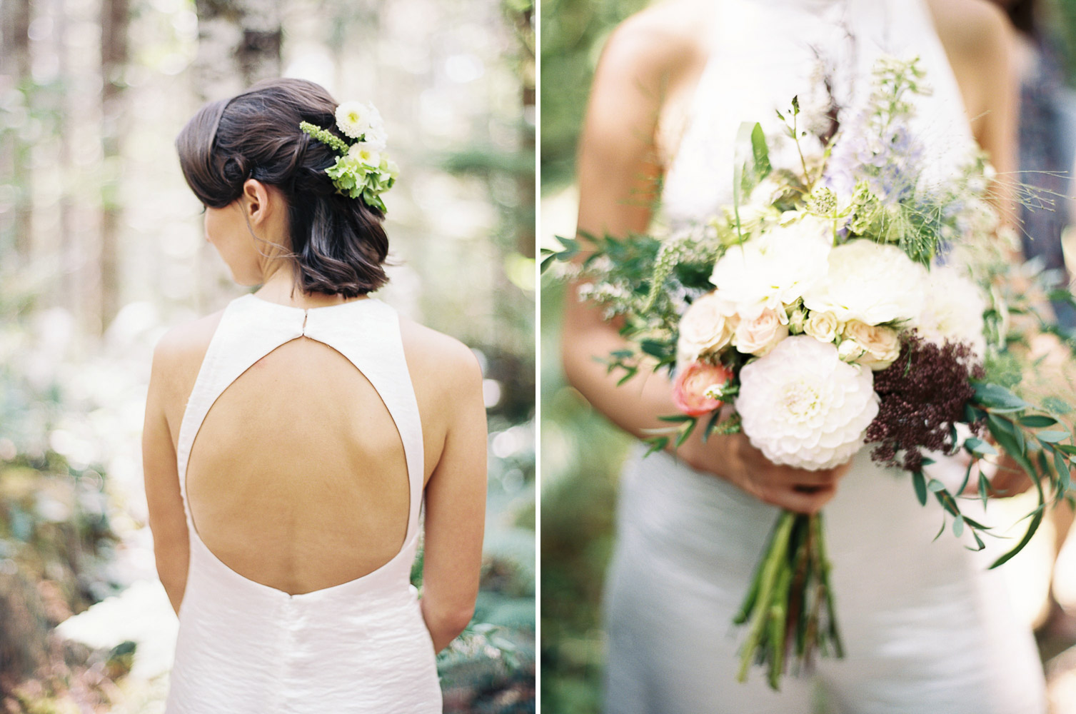 Bridal details captured by Seattle Wedding Photographer Anna Peters at Wellspring Spa Wedding at Mt. Rainier