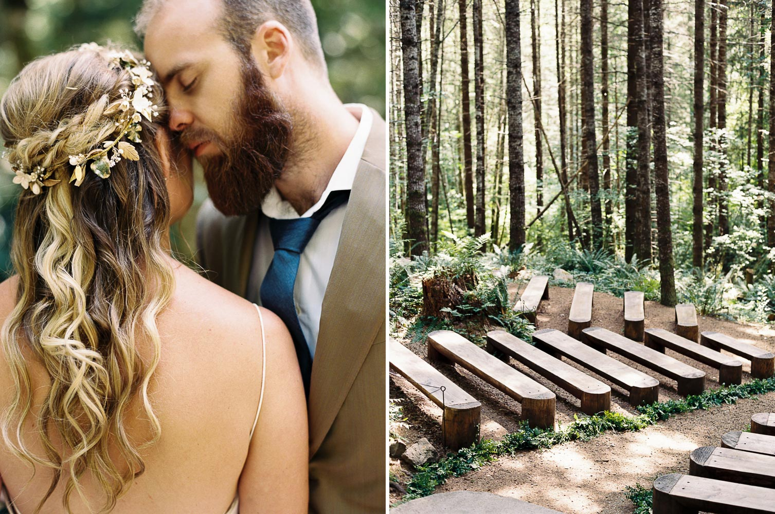 Outdoor Wedding Photography at Wellspring Spa at Mt. Rainier