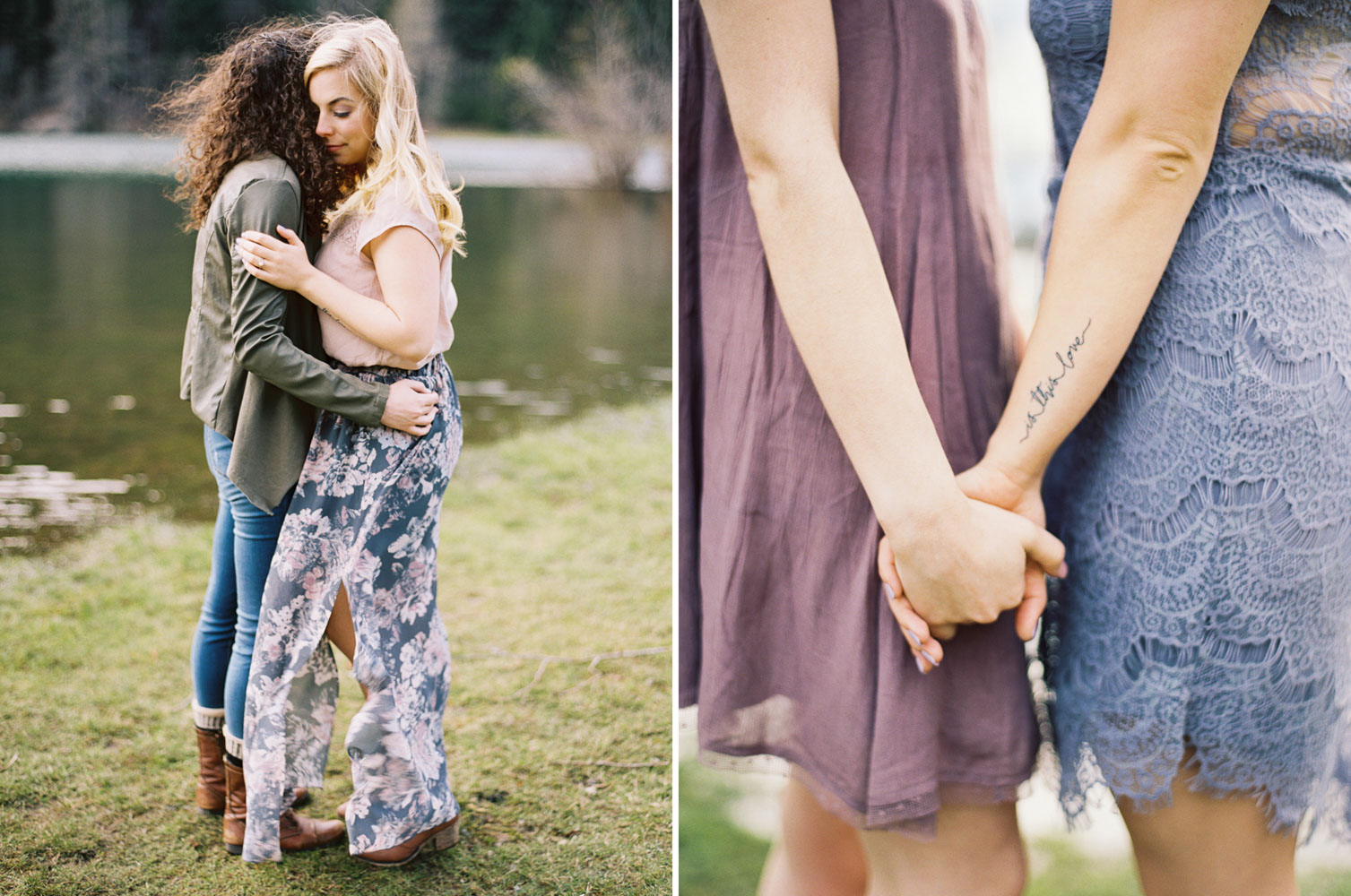 Same sex engagement session by Anna Peters Seattle Wedding Photographer at Rattlesnake Ridge