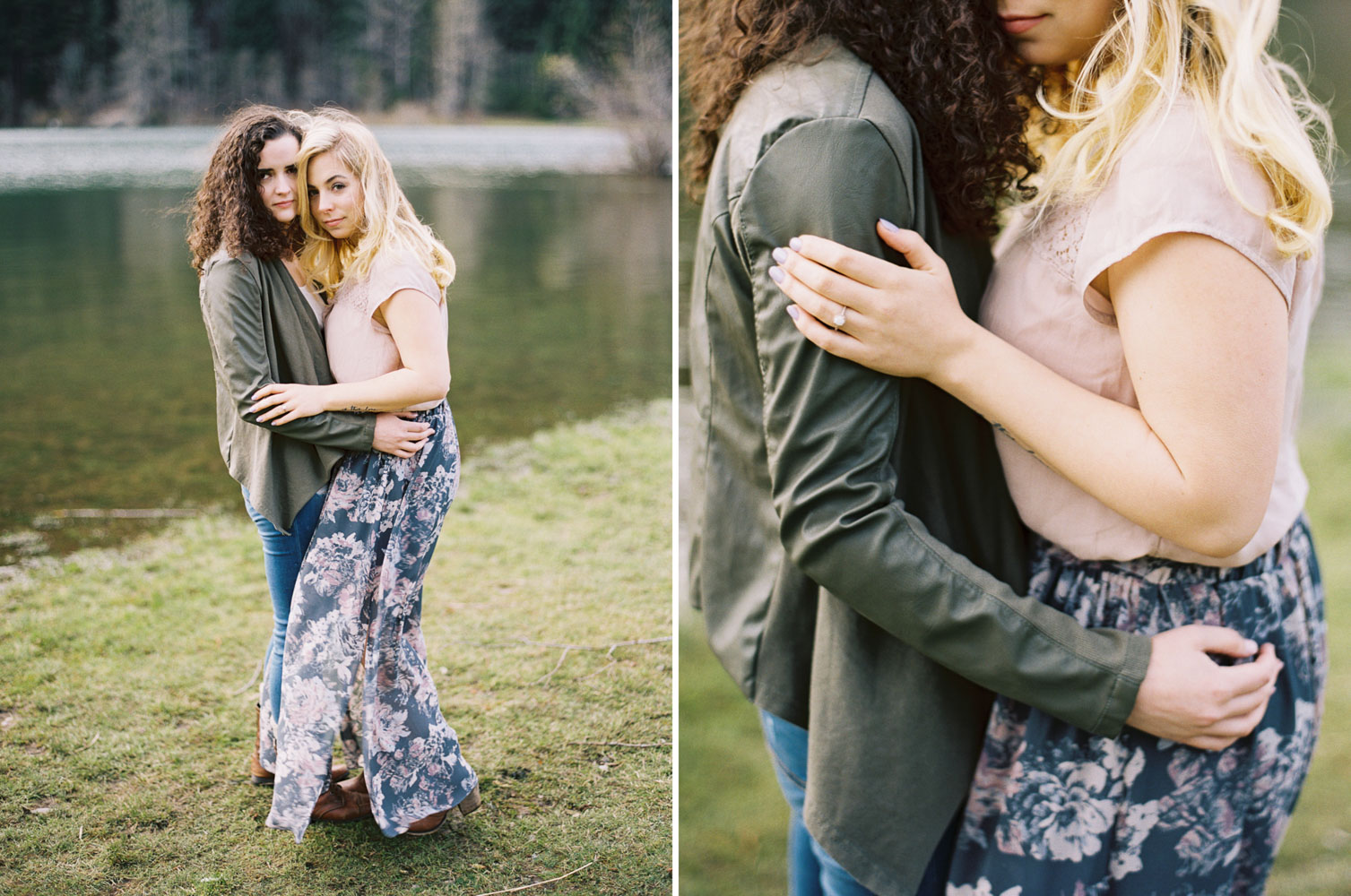 Same sex engagement photography by Seattle Wedding Photographer Anna Peters