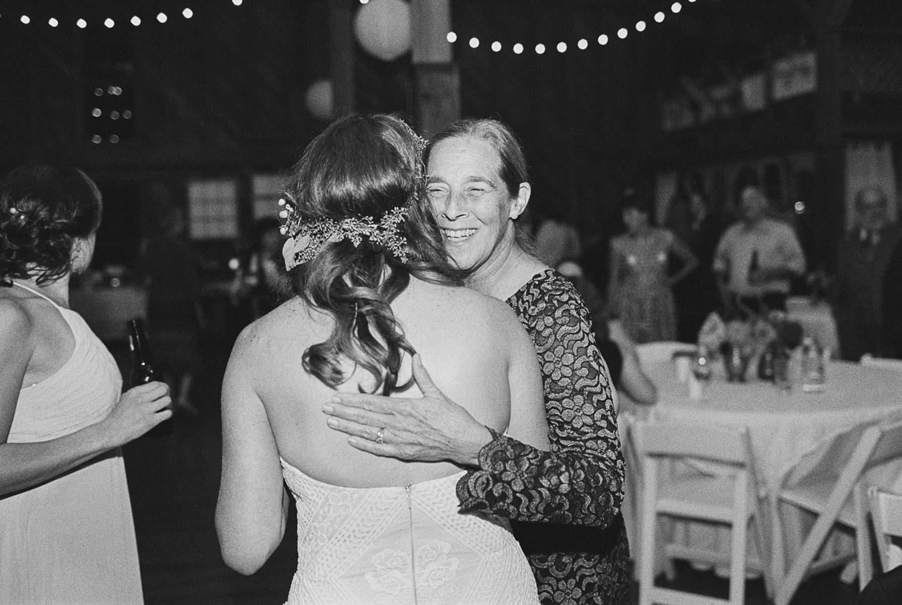 Dancing the night away at a Crockett Farm Wedding on Whidbey Island