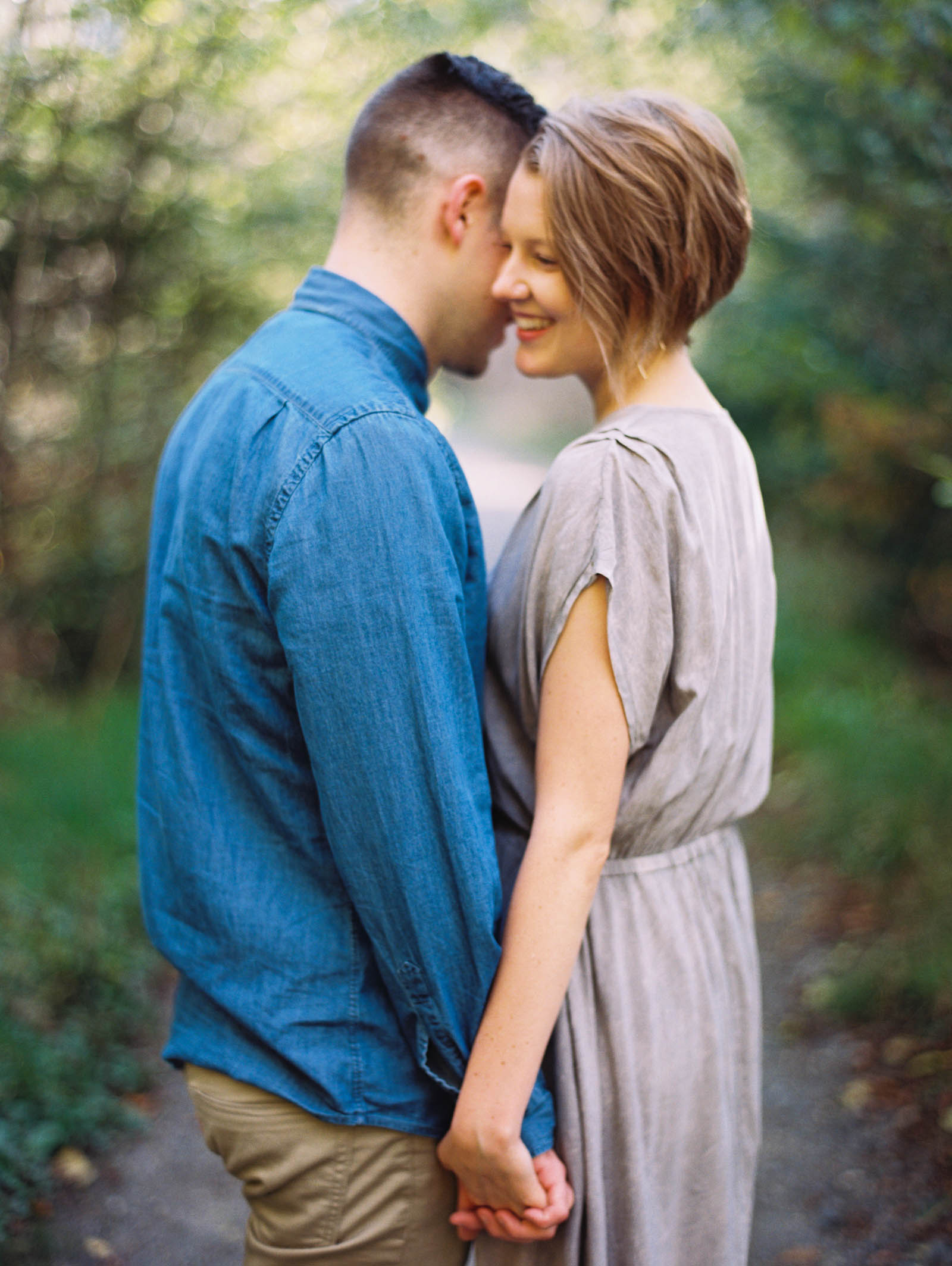 Joyful engagement session at discovery park by top Seattle Engagement Photographer Anna Peters