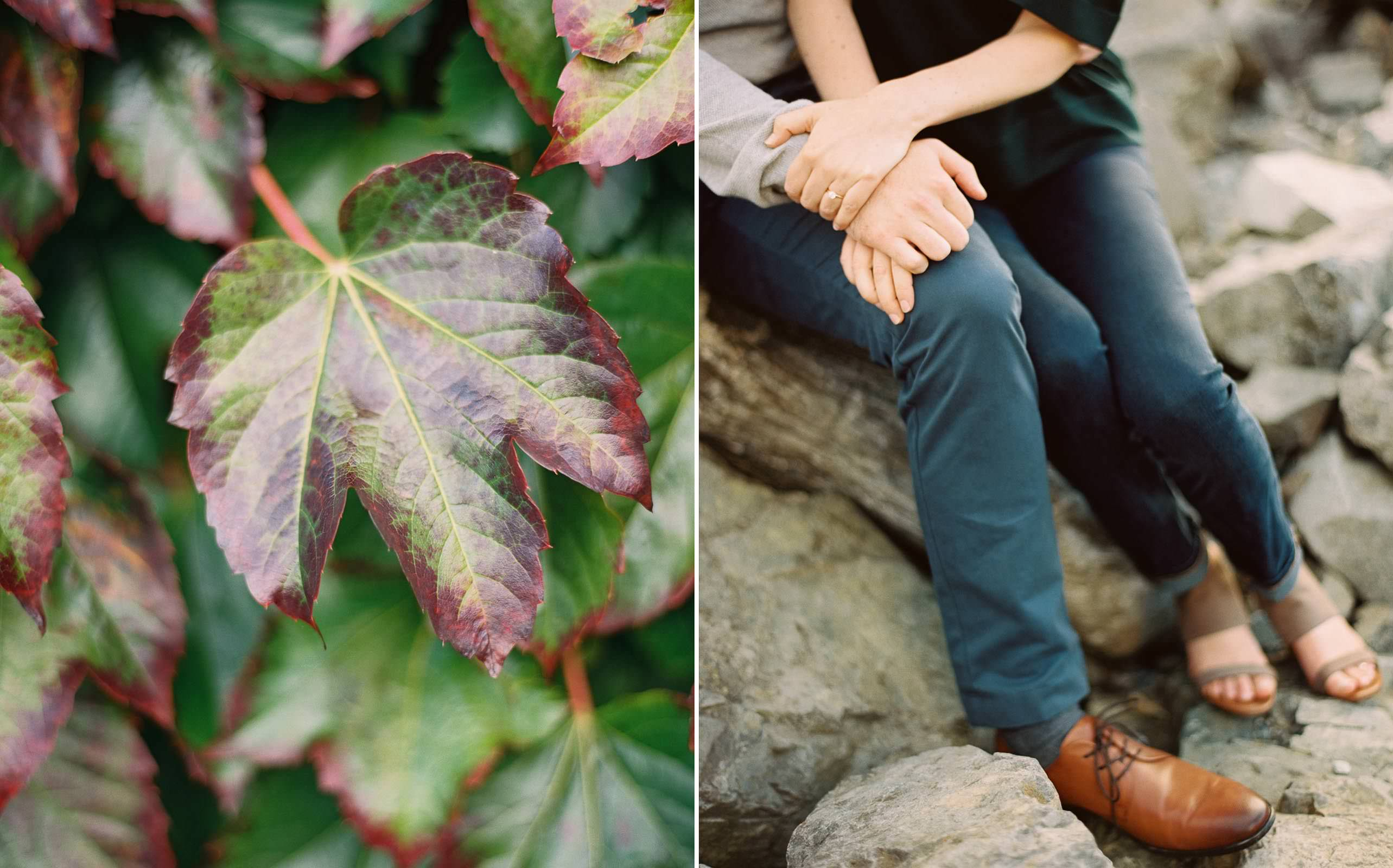 Seattle engagement session details on film by Fine Art Wedding Photographer Anna Peters