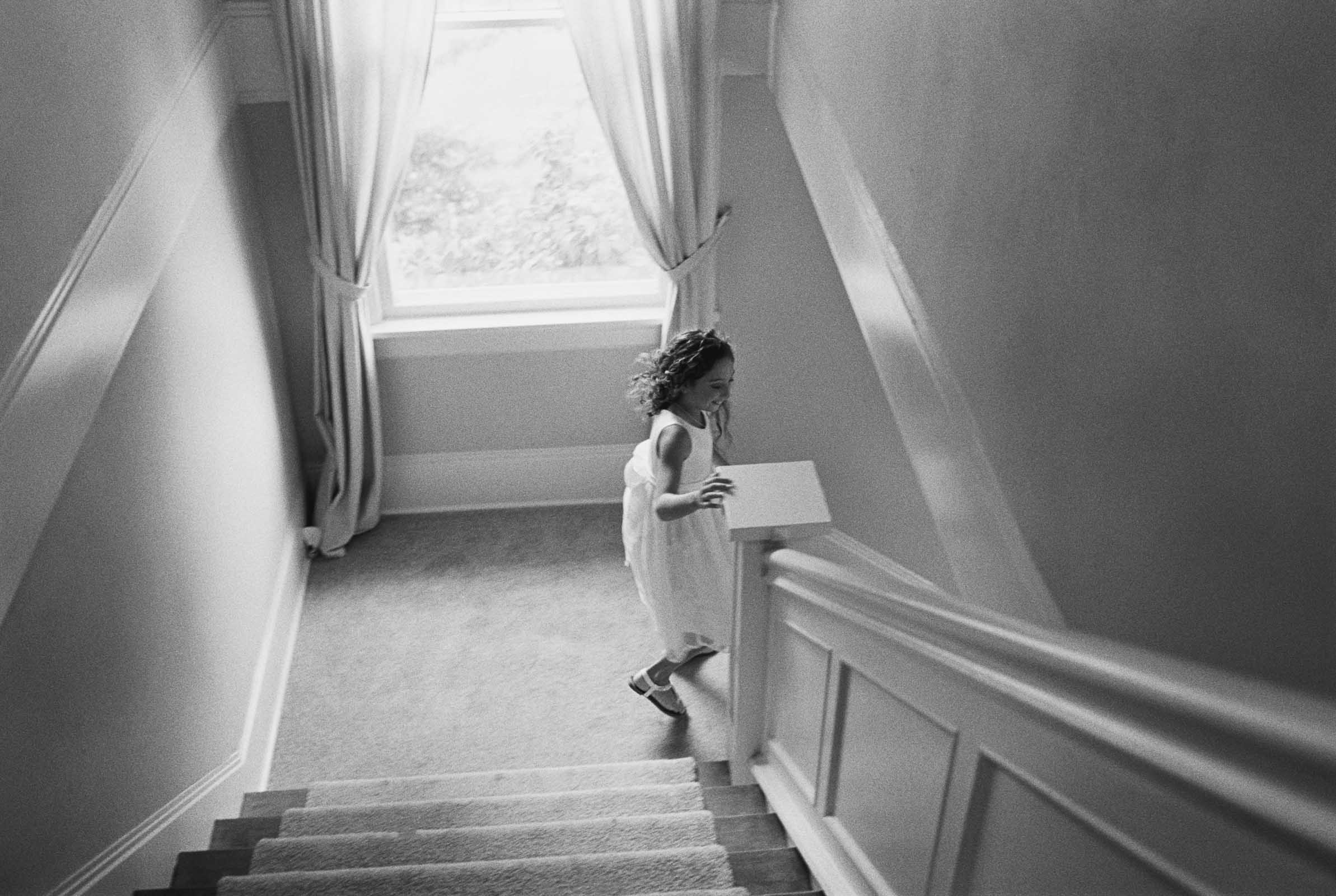 Candid moments captured on black and white film by top Seattle wedding photographer Anna Peters