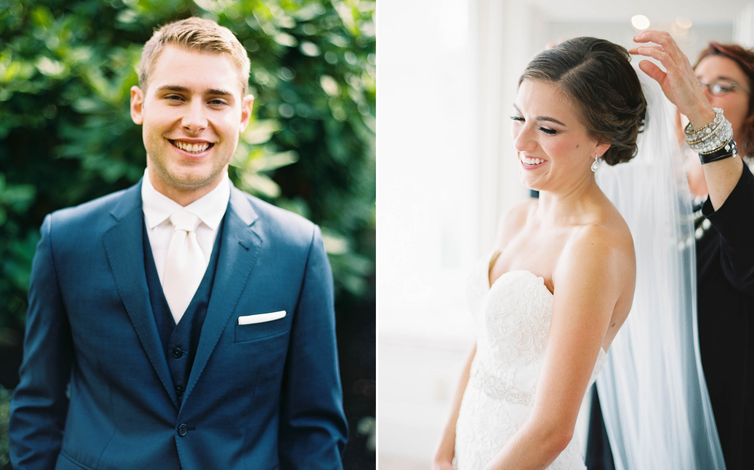 Bride and groom captured by Seattle Wedding photographer Anna Peters at Lord Hill Farms