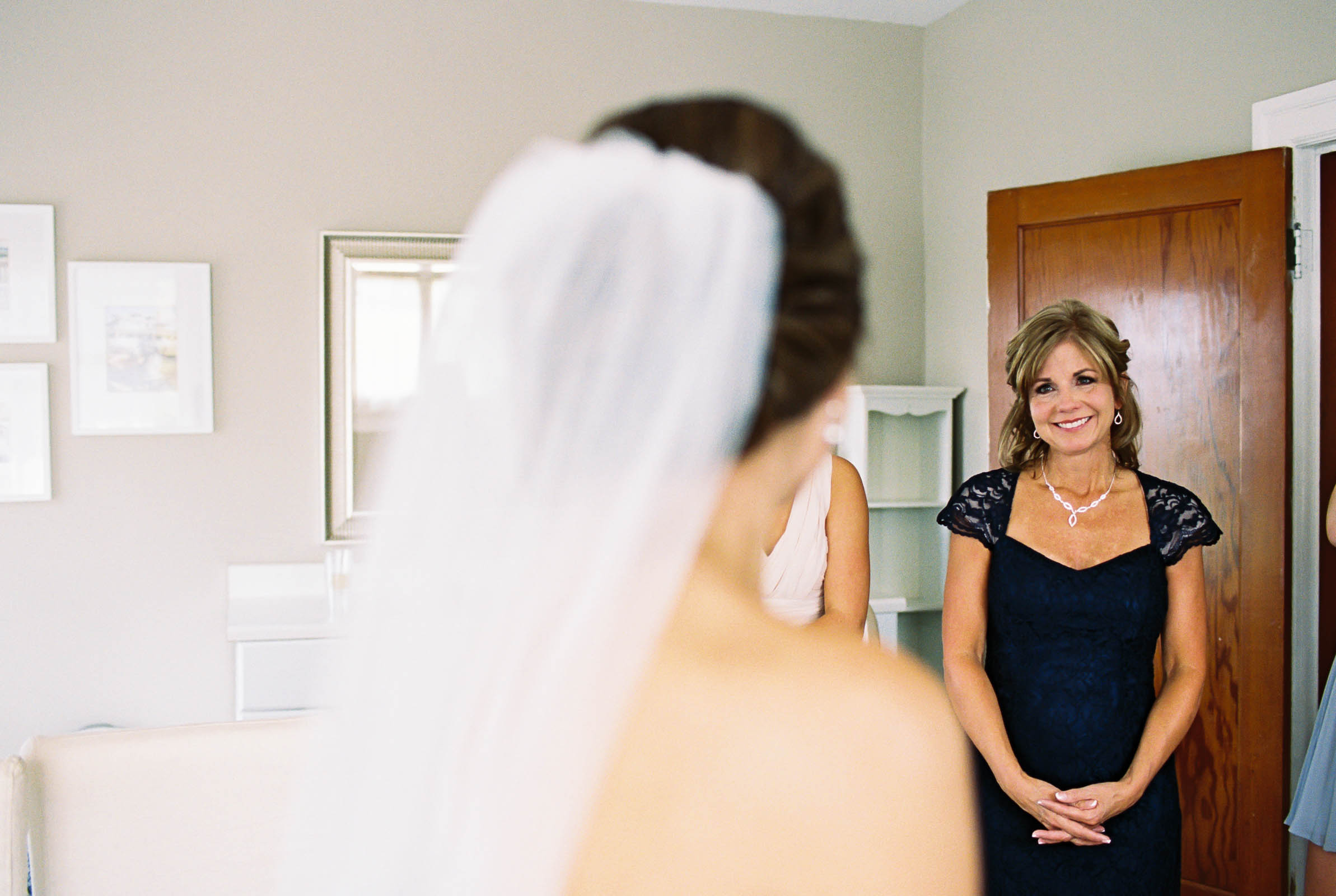 Emotional moment with the mother of the bride at a Lord Hill Farms wedding