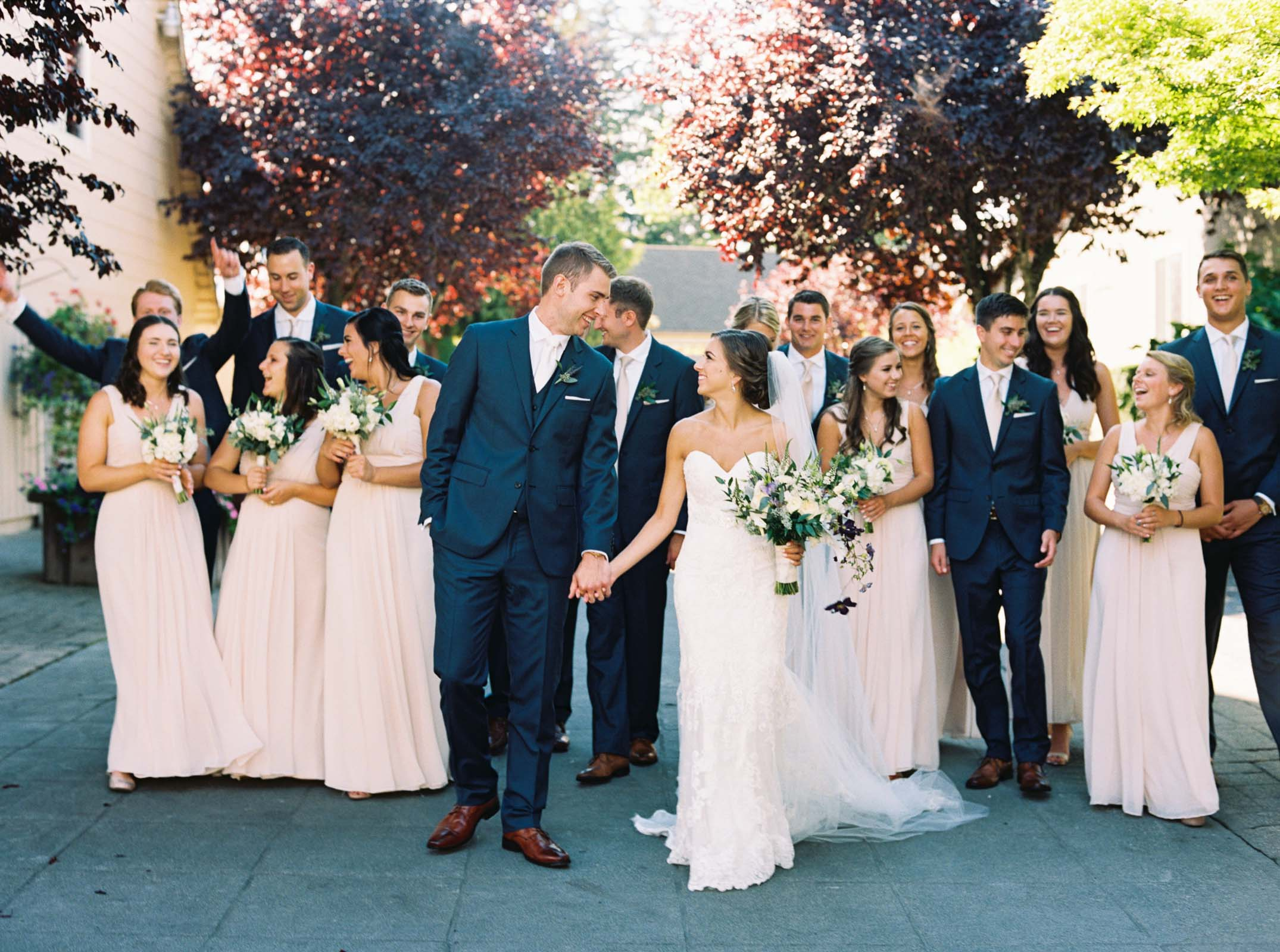 Joyful bridal party photos at a Lord Hill Farms wedding in Seattle
