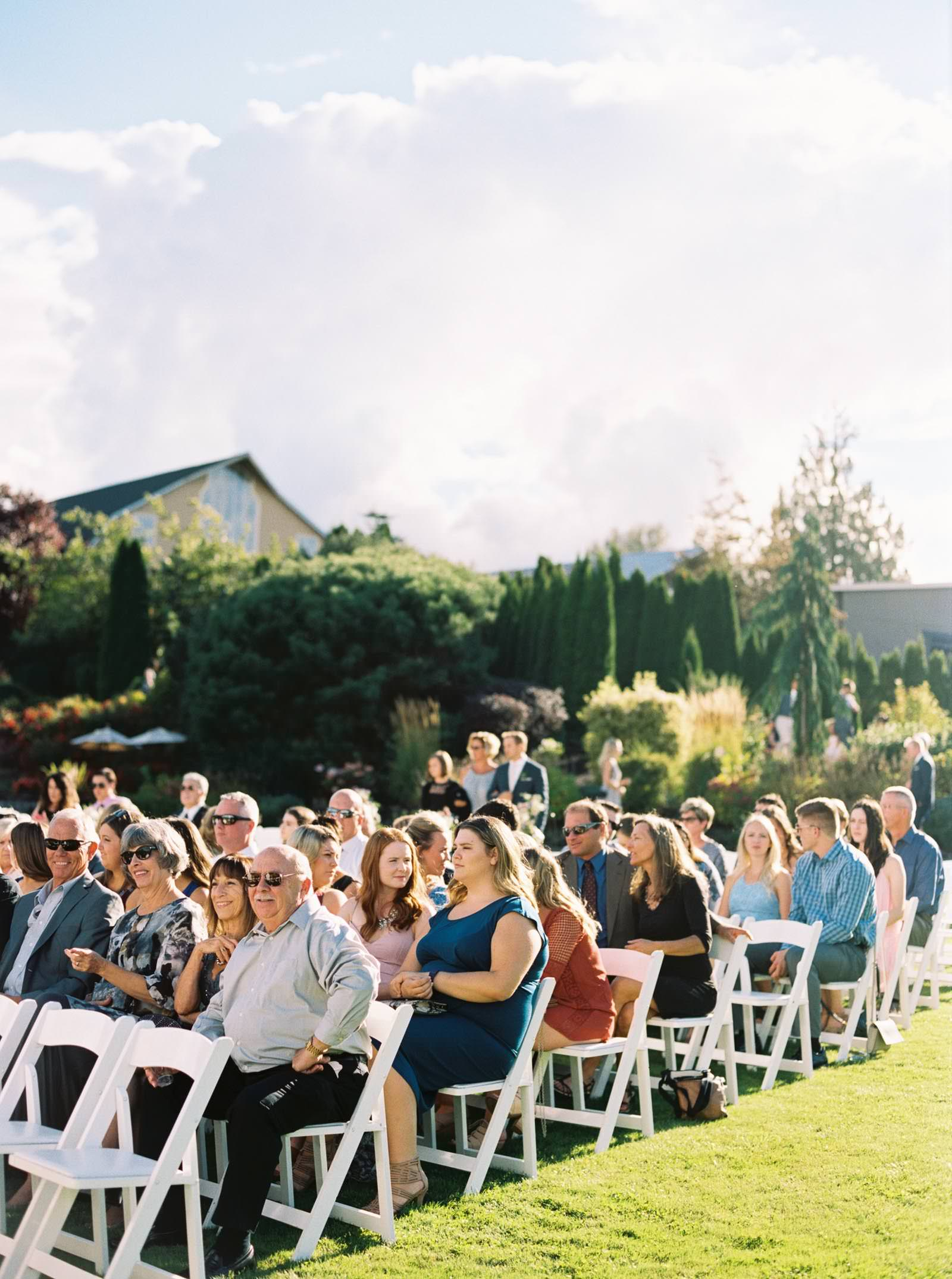Summer Lord Hill Farms wedding ceremony photographed by Anna Peters