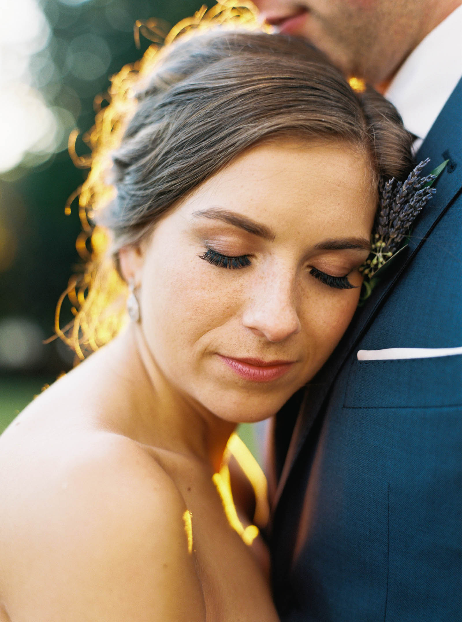 Golden hour wedding portraits on the lawn at Lord Hill Farms