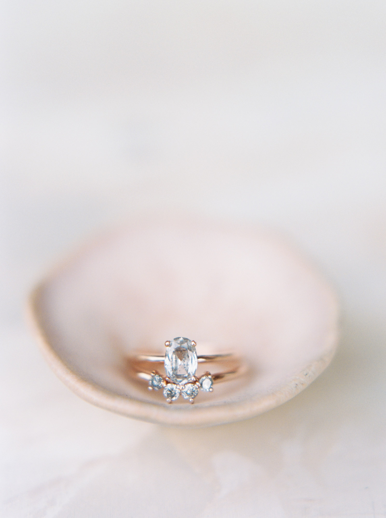 Grey diamond engagement ring captured on film by top PNW wedding photographer Anna Peters