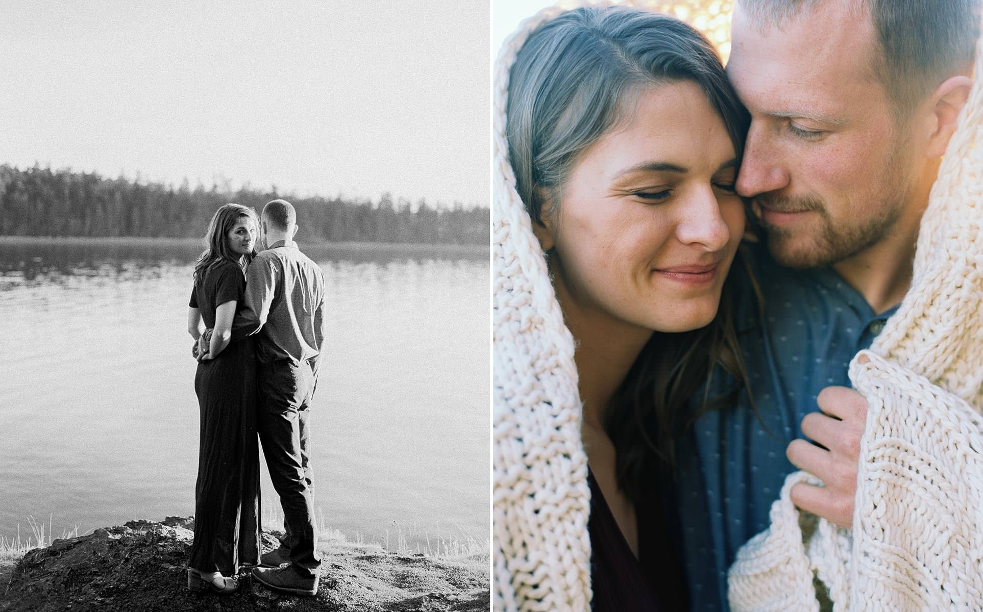 Adventurous lifestyle inspired engagement session by Seattle Wedding Photographer Anna Peters
