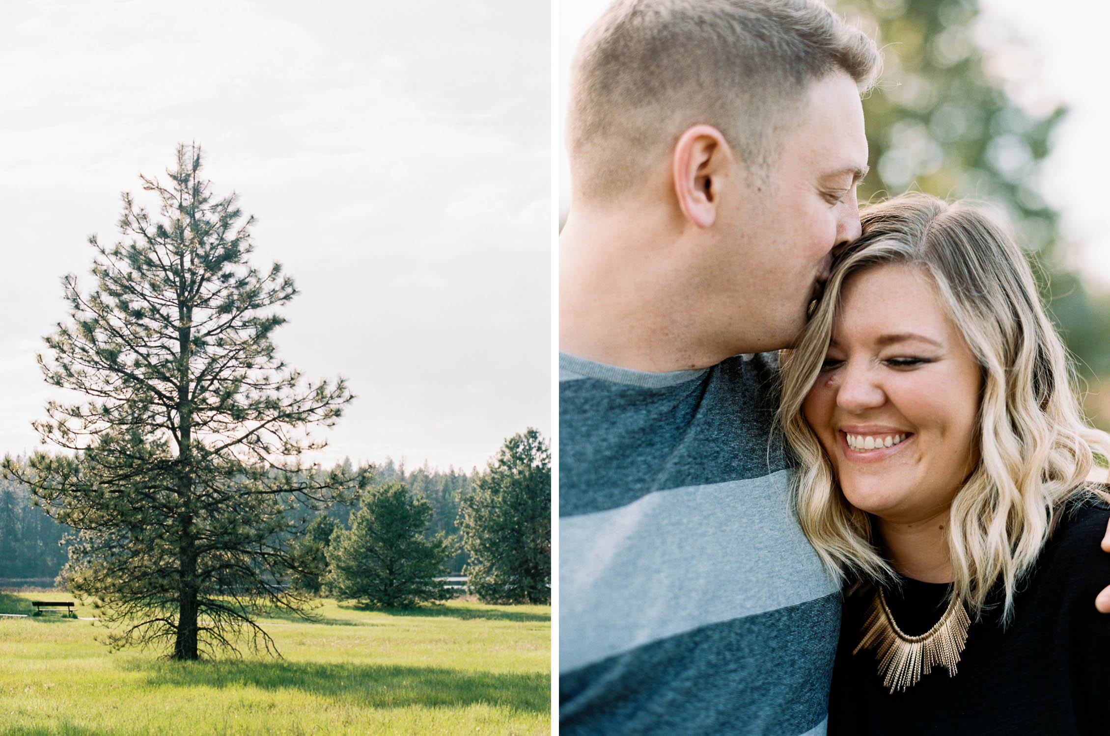 Spokane engagement session on the lake captured on film by Anna Peters