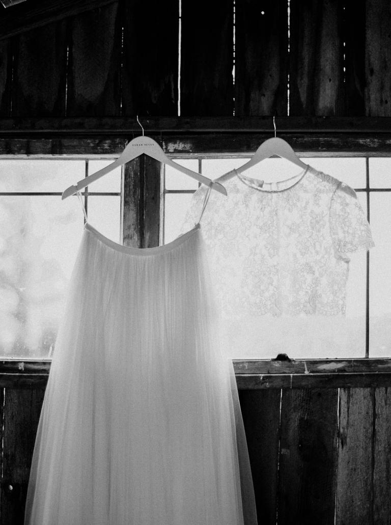 Alexandra Grecco wedding dress seperates at a Whidbey Island wedding