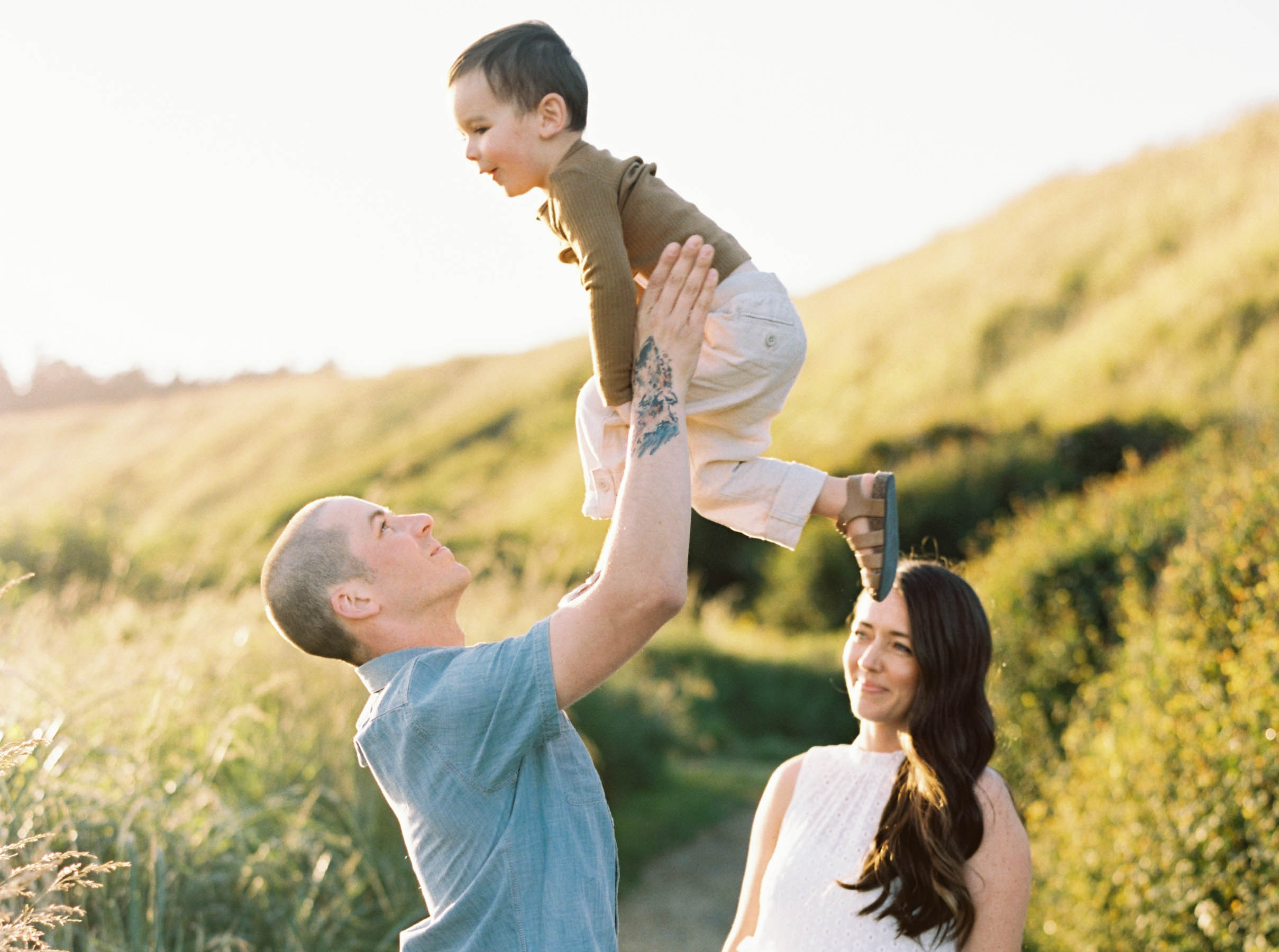 Fun family portraits on Whidbey Island by top Seattle Wedding Photographer Anna Peters