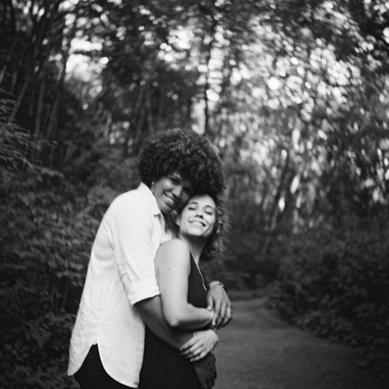 Relaxed and candid engagement session on film captured by Seattle Wedding Photographer Anna Peters