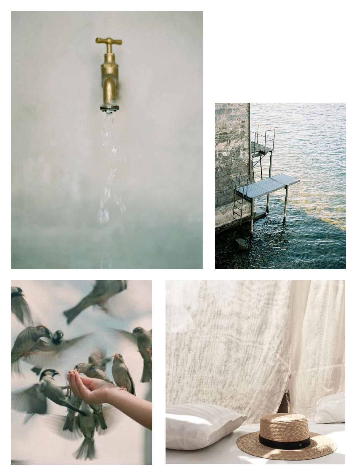 Inspiration board for a Seattle engagement session inspired by travels abroad