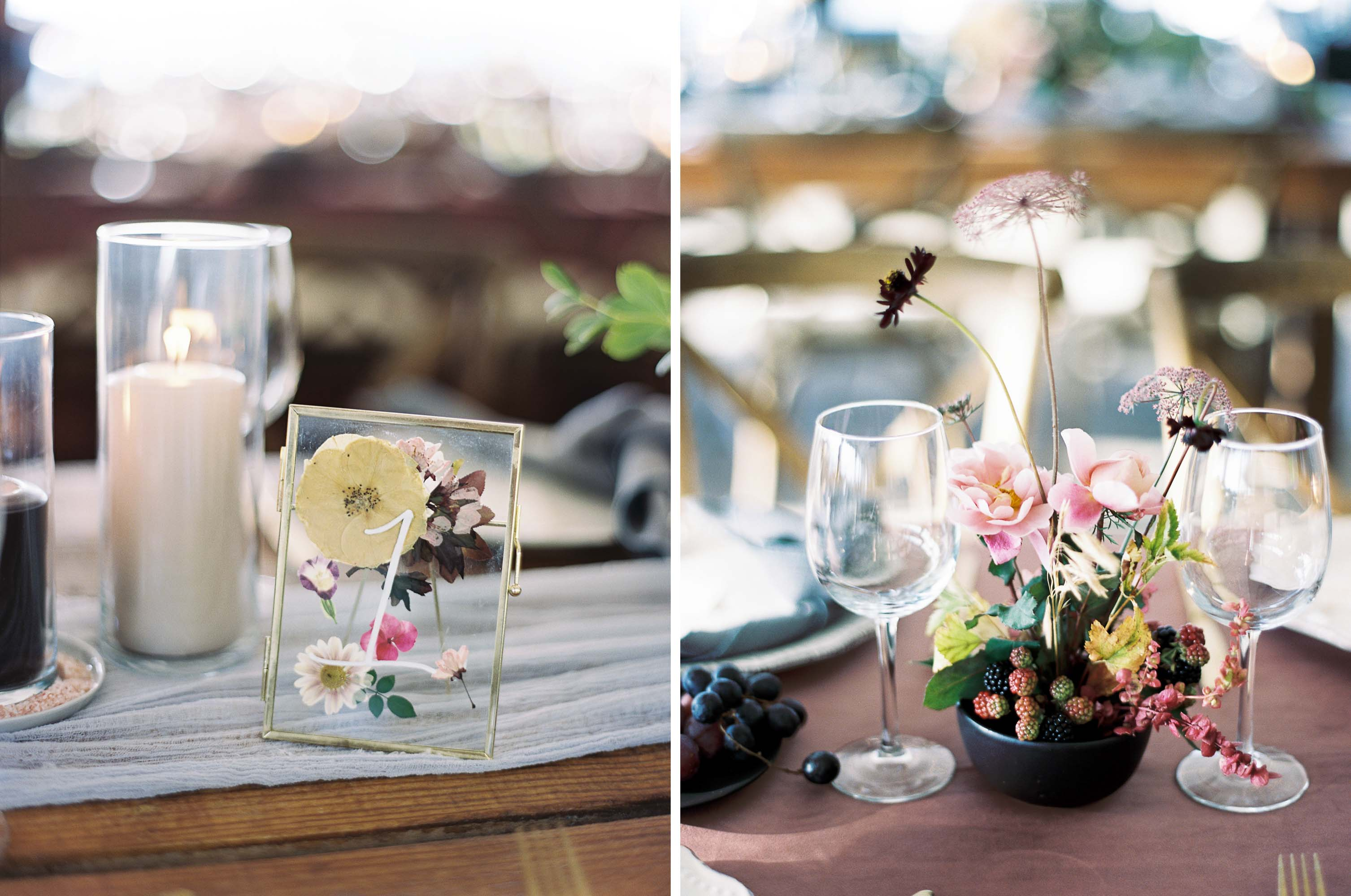 Berry toned, fall wedding with garden inspired floral design at Arbor Crest Winery in Spokane, Washington   Photographed by Seattle and Destination Wedding Photographer Anna Peters