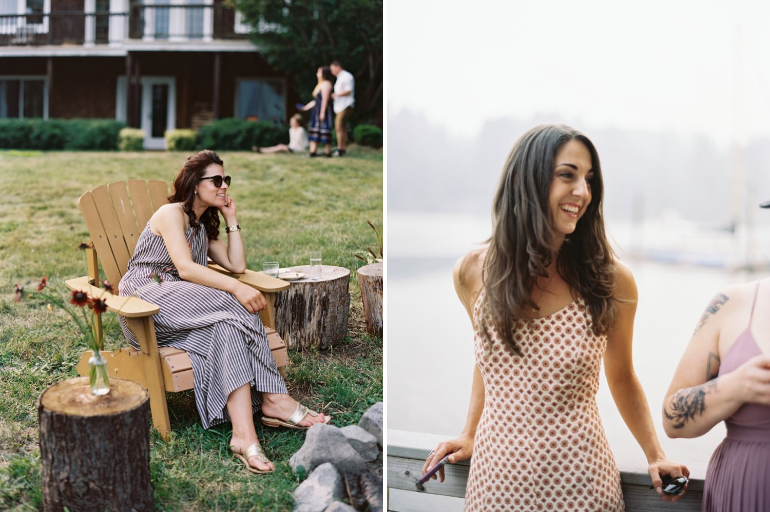 Guests at an intimate Bainbridge Island Wedding