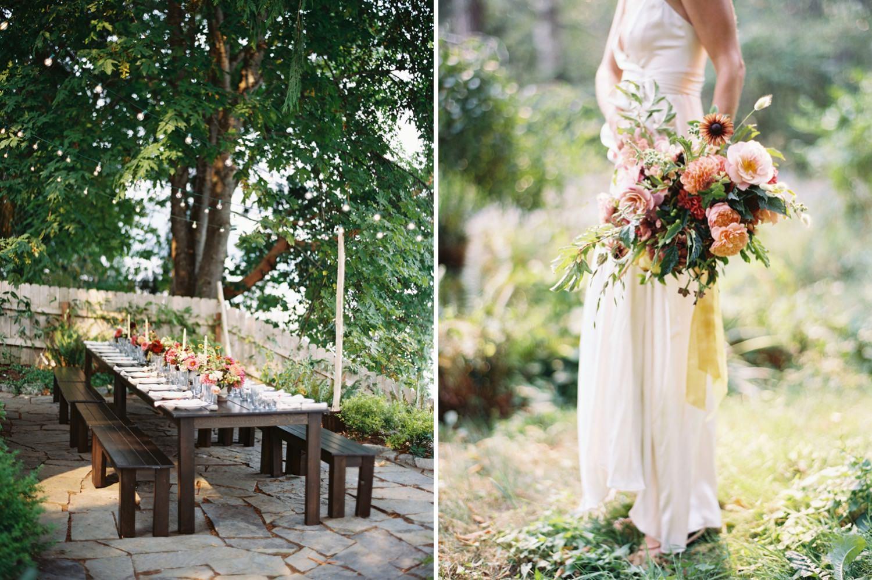 Romantic and rambling floral design at a Bainbridge Island Wedding