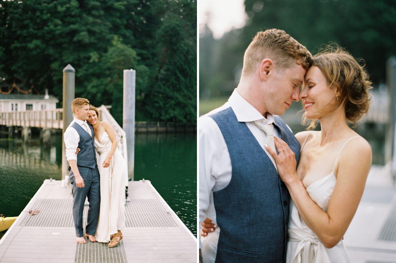 Romantic, Minimal Bride and Groom
