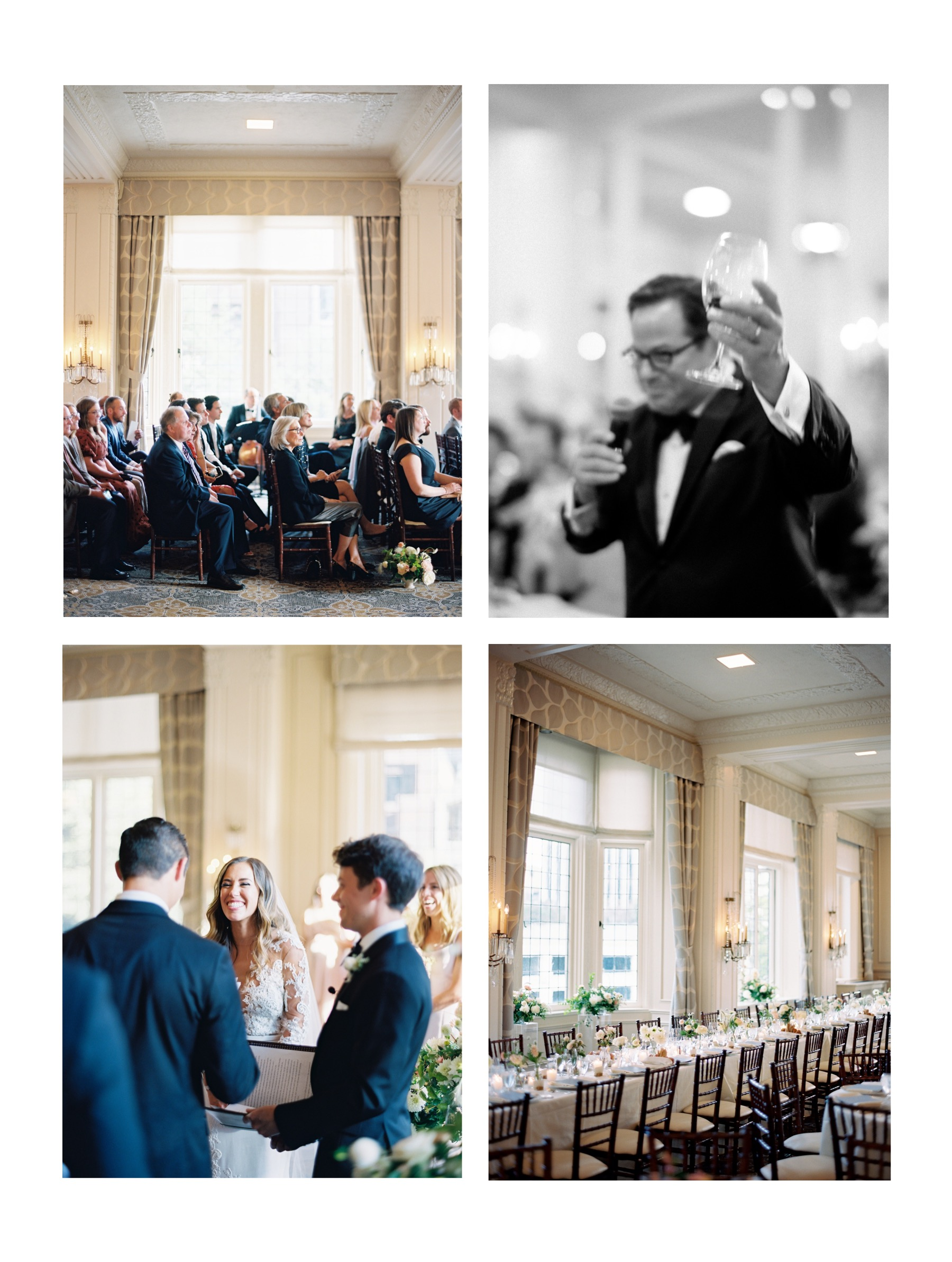 Our favorite elegant Seattle Wedding Venues, and a photographer's perspective on setting | The Rainier Club, classic indoor Seattle Wedding venue in downtown