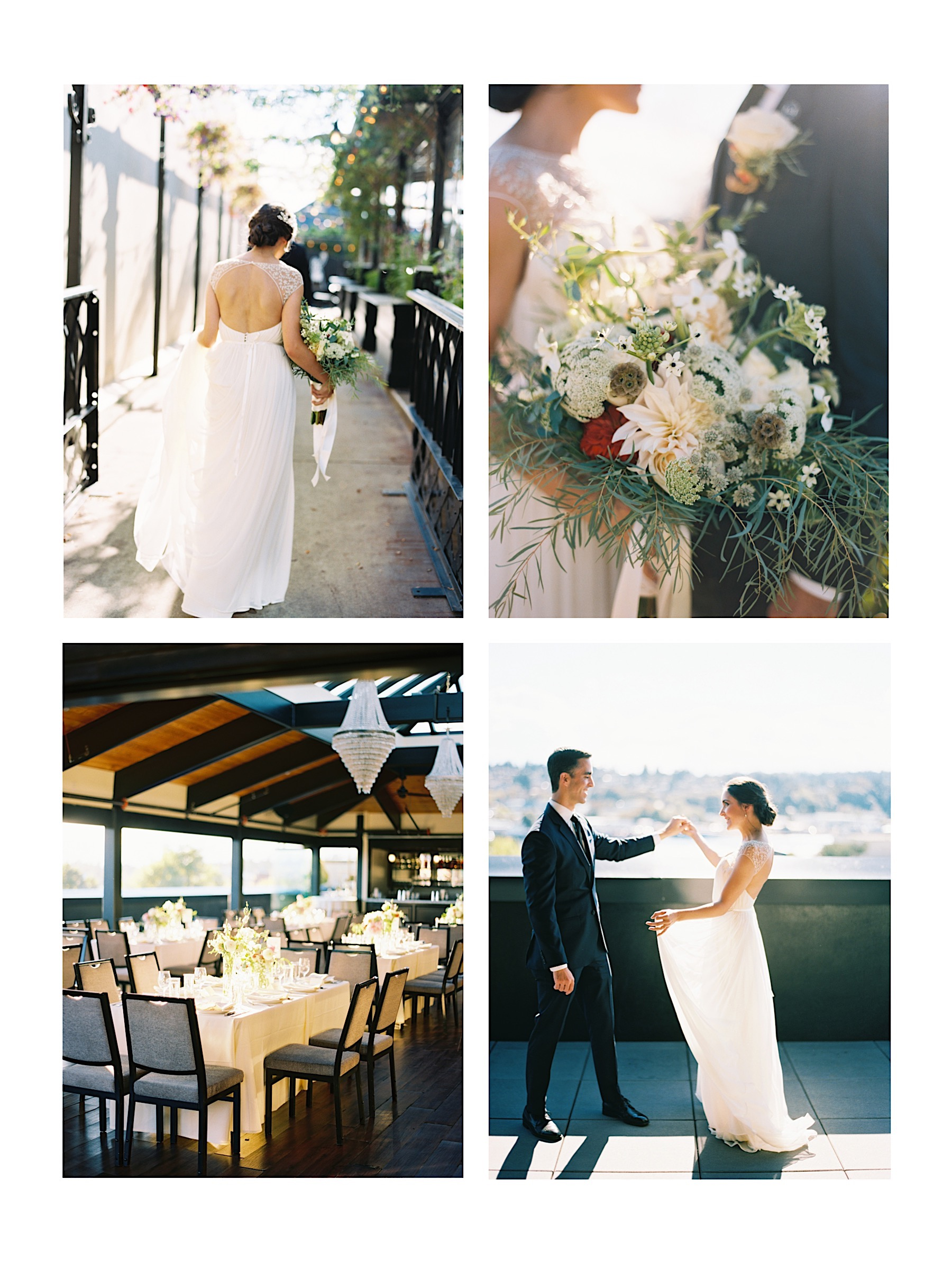Our favorite elegant Seattle Wedding Venues, and a photographer's perspective on setting | Olympic Rooftop Pavillion - Intimate Rooftop Wedding Venue in Ballard
