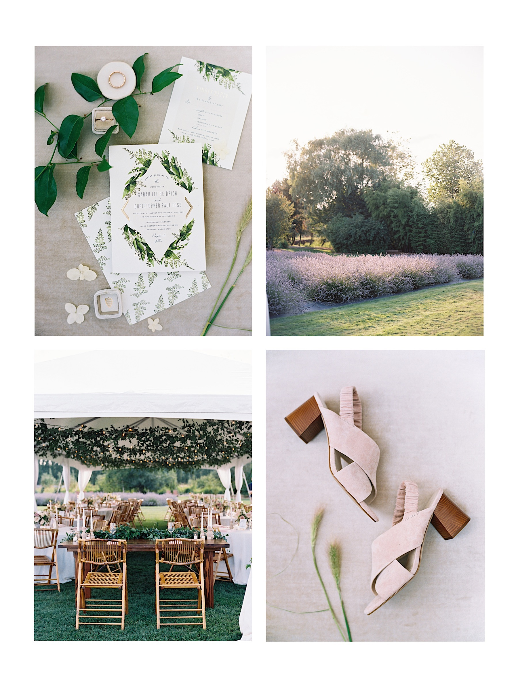 Our favorite elegant Seattle Wedding Venues, and a photographer's perspective on setting | Woodinville Lavender, outdoor Seattle wedding venue in a lavender field
